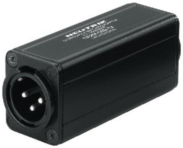 Neutrik NA-2MD0BTX XLR-/Cinch- Adapter Massetrennfilter